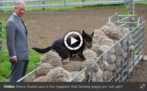 Prince charles video hill farming