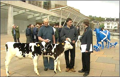 scots dairy farmers protest